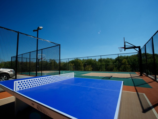 Outdoor Table Tennis, and Outdoor Basketball Court