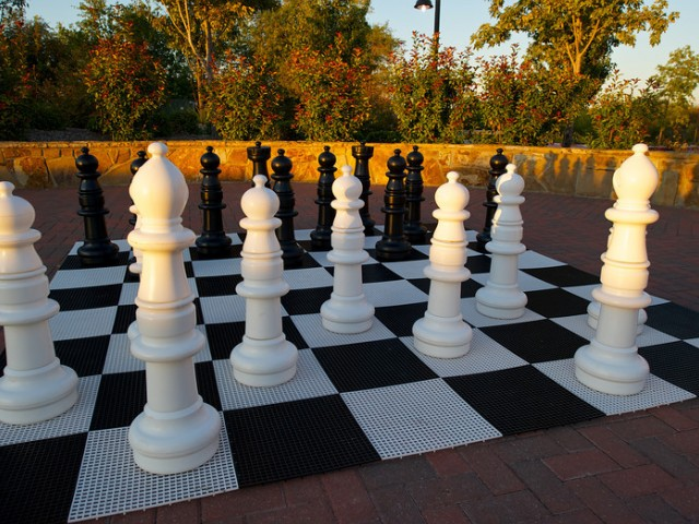 Outdoor Life-Sized Chess Board | Apartments Rockwell TX | Rockwall Commons
