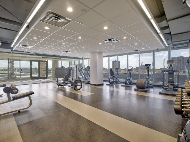 Fitness center fully equipped.