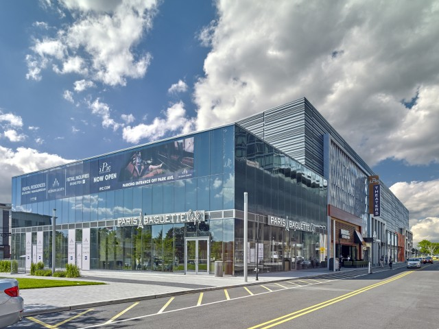 Retail and entertainment building with iPic Theaters and Paris Baguette Life restaurant