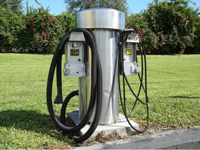 Car vacuum and wash station