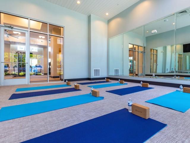 m2 at millenia yoga studio with mats