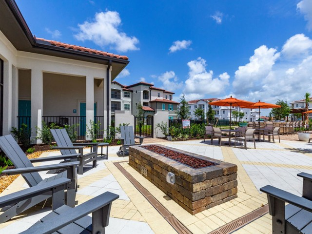 Treviso Grand Apartments - North Venice, Florida  fire pit with seating