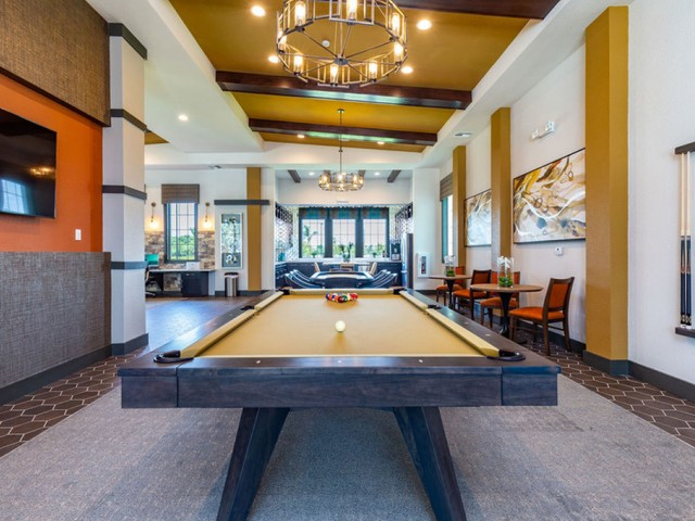 Treviso Grand Apartments - North Venice, Florida  billiards table in clubhouse