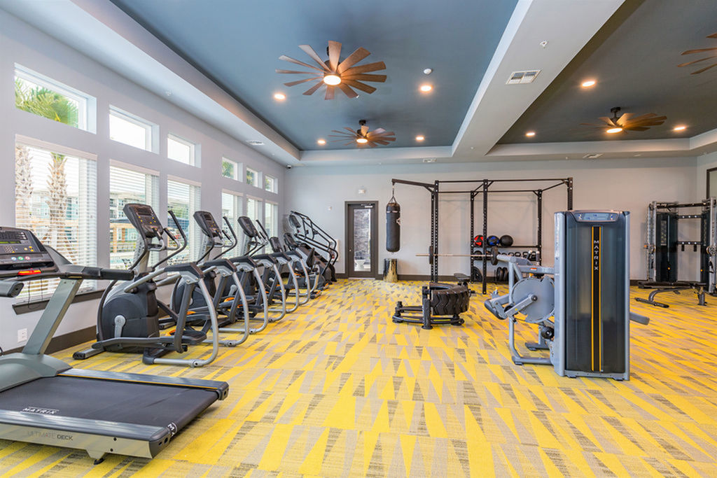 San Mateo Apartments Kissimmee Florida fitness center with Matrix cardio and strength training equipment