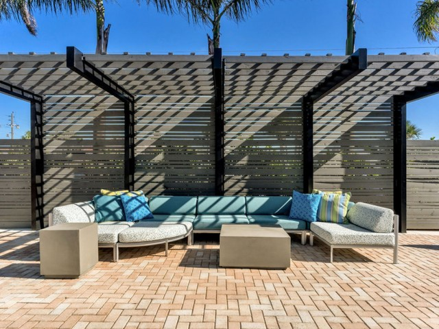 the dunes Indian harbour beach florida pool seating area with overhead shade