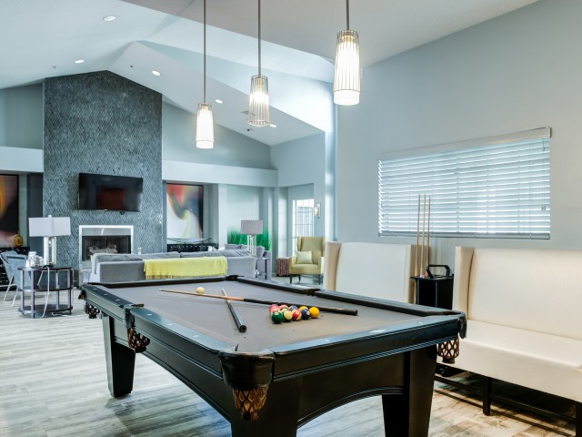 Resident lounge with billiards