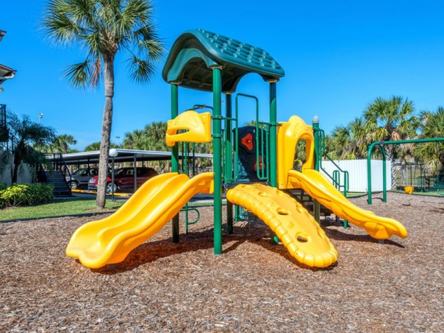 Harbour Pointe Indian Harbour Beach Florida playground with mulch
