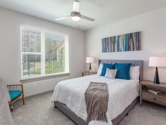 Madison Pointe Daytona Beach Florida  bedroom with blinds on window
