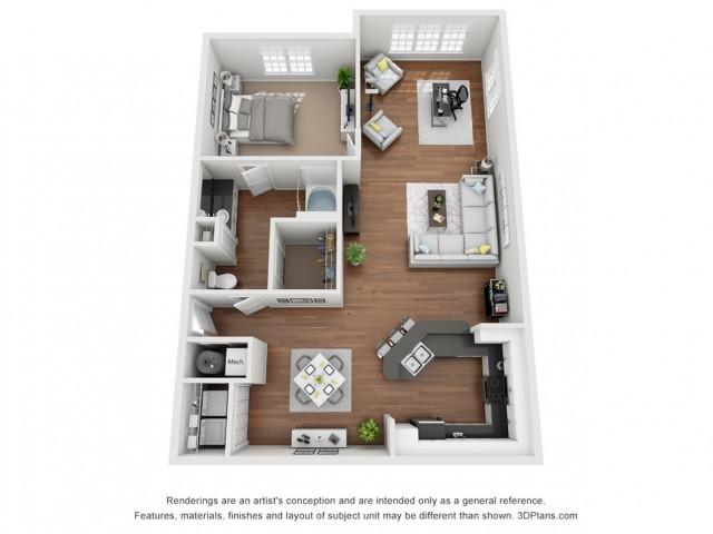 Water Solarium 949 Square Feet One Bedroom | One Bathroom