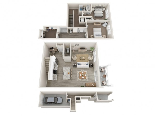 2BR|2.5BA Townhome