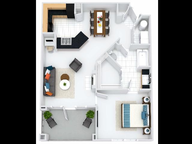 Park Lane Kensington Floor Plan with Balcony
