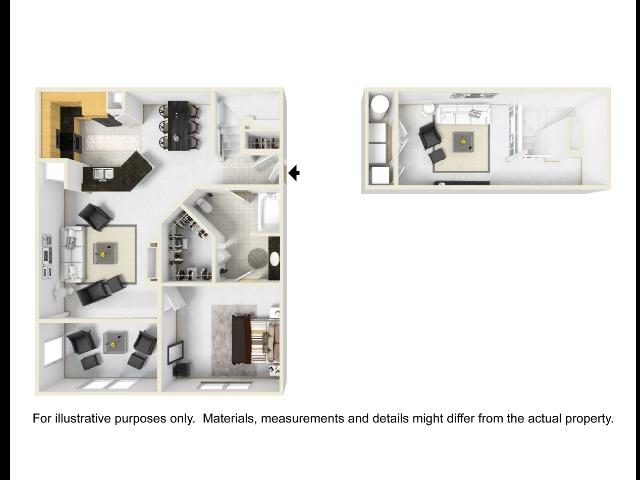 Kensington Floor Plan with Loft