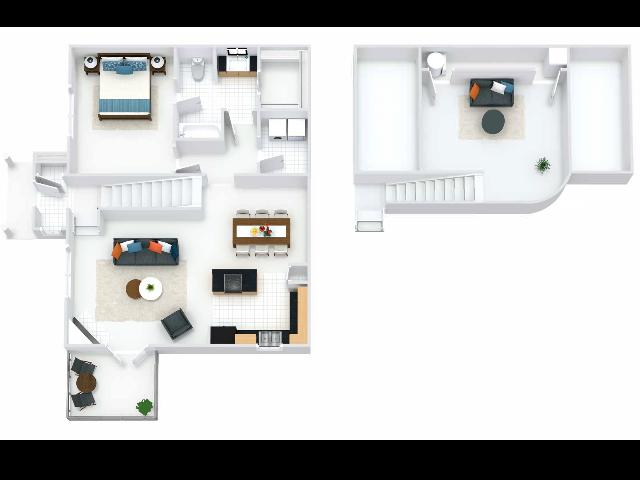 Regents Floor Plan with Loft and Balcony
