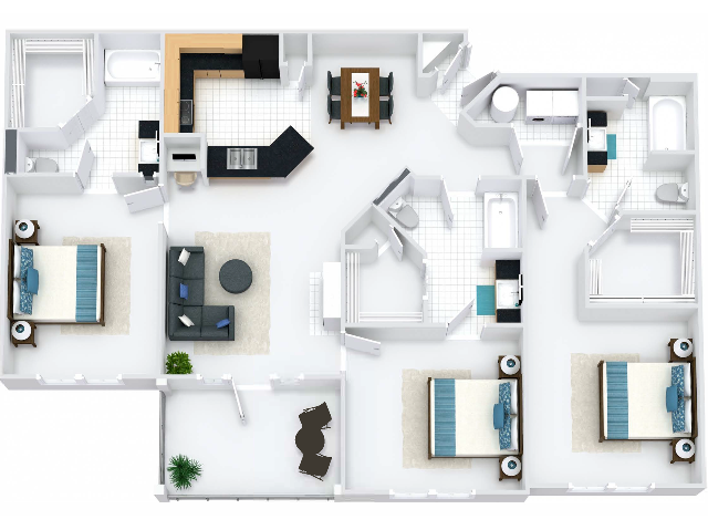 Oxford Floor Plan with Balcony