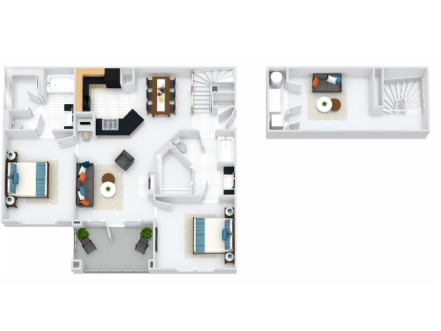 Bristol Floor Plan with Loft