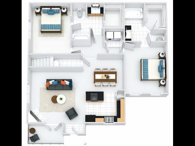 Dorchester Floor Plan with Patio