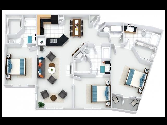 Abbey III Floor Plan