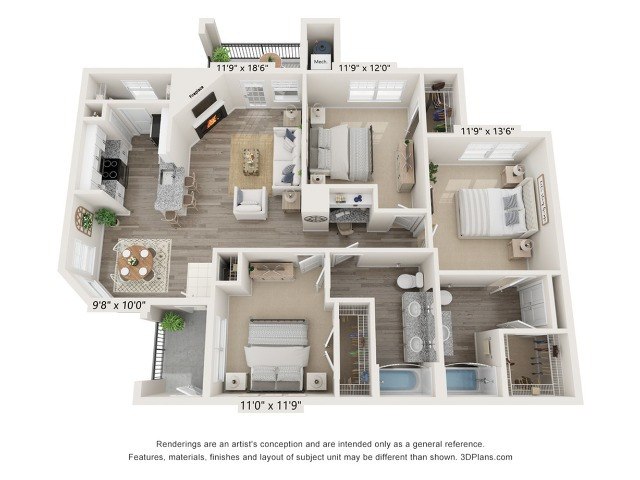 Redbud - 3 bed. 2 bath 1322 square feet