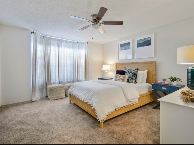 Staged Model Apartment Bedroom