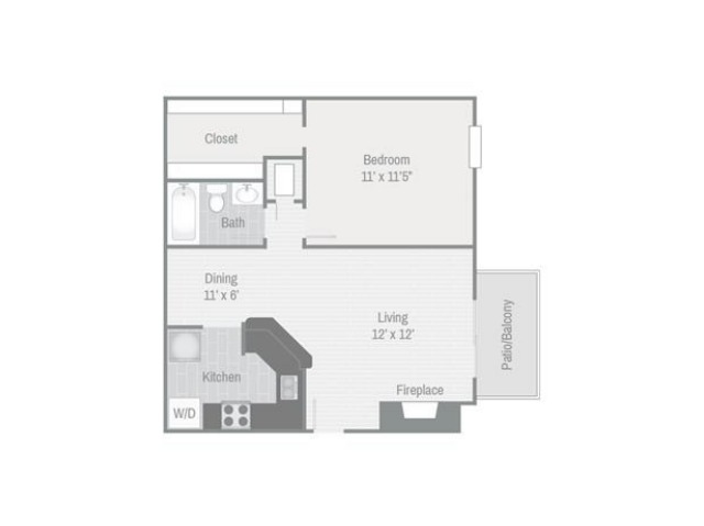 Floor Plan 1 | Nashville Apt | Bellevue West