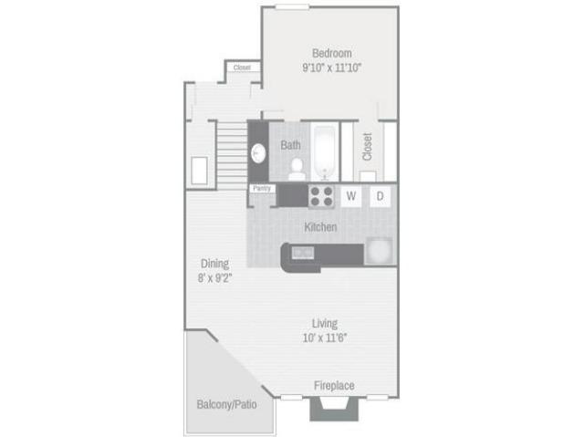 Floor Plan 2 | Nashville Apt | Bellevue West
