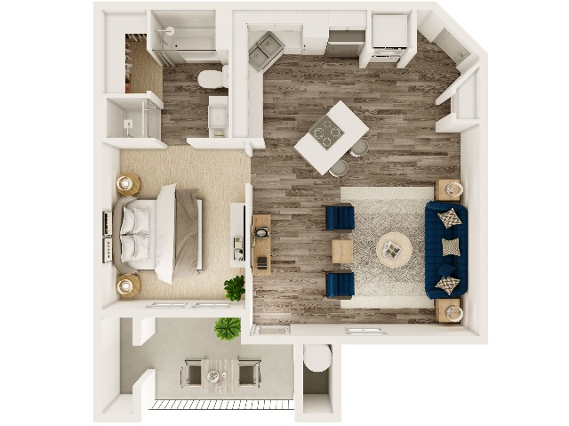Water Tower Flats one bed one bath 778 sqft