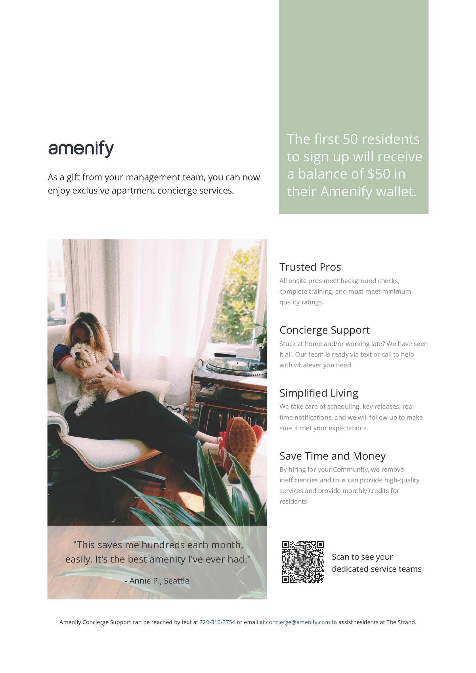 Lifestyle Services Provided by Amenify