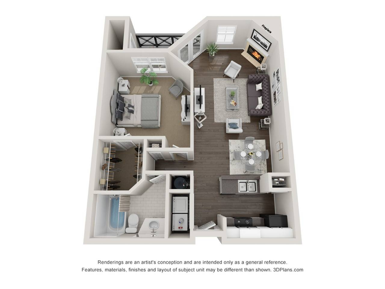 Renovated 1 Bedroom