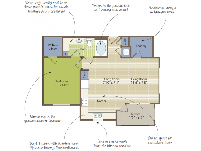 2D Floor Plan image for the The Edge Floor Plan of Property Arcadia\'s Edge