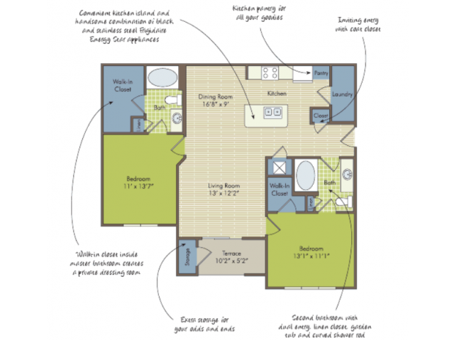 2D Floor Plan image for the The Tupelo Floor Plan of Property Arcadia\'s Edge