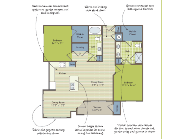 2D Floor Plan image for the The Arcadian Floor Plan of Property Arcadia\'s Edge