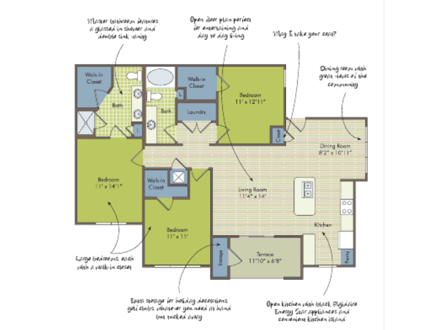 2D Floor Plan image for the The Roper Floor Plan of Property Arcadia\'s Edge