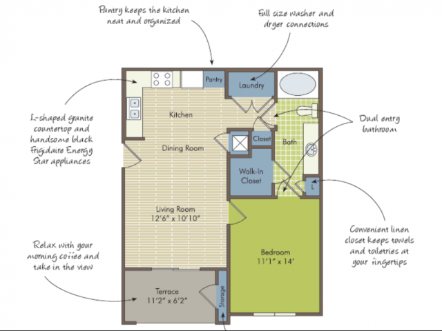 2D Floor Plan image for the The Lilypad Floor Plan of Property Arcadia\'s Edge