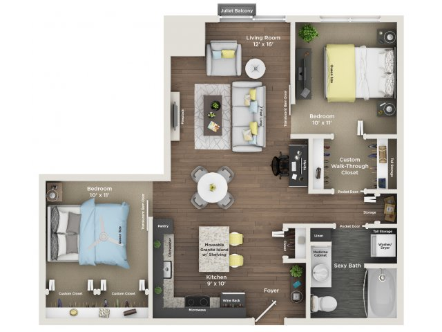 apartment floor plan B1