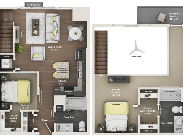 apartment floor plan C1