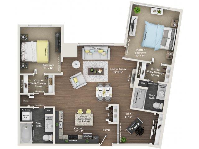 apartment floor plan C8