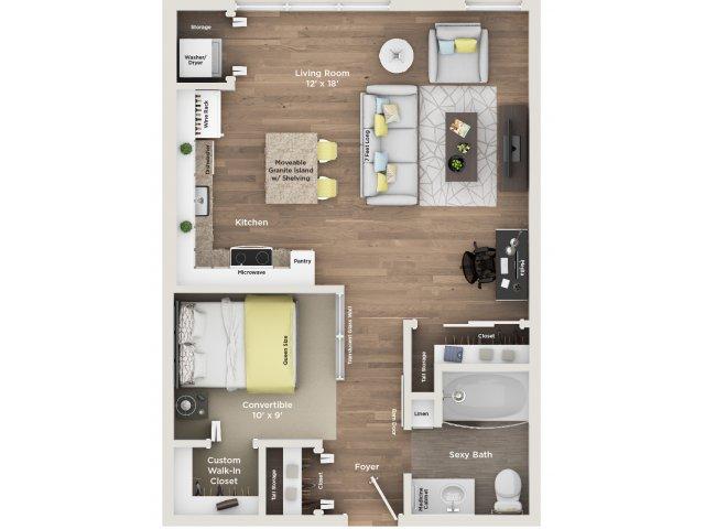 apartment floor plan V1