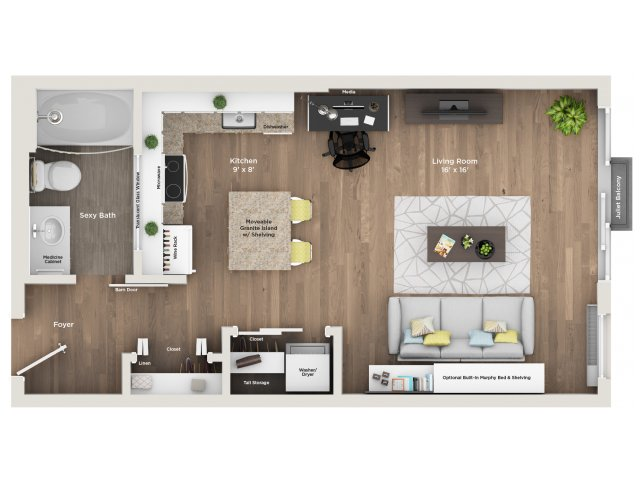 apartment floor plan S2