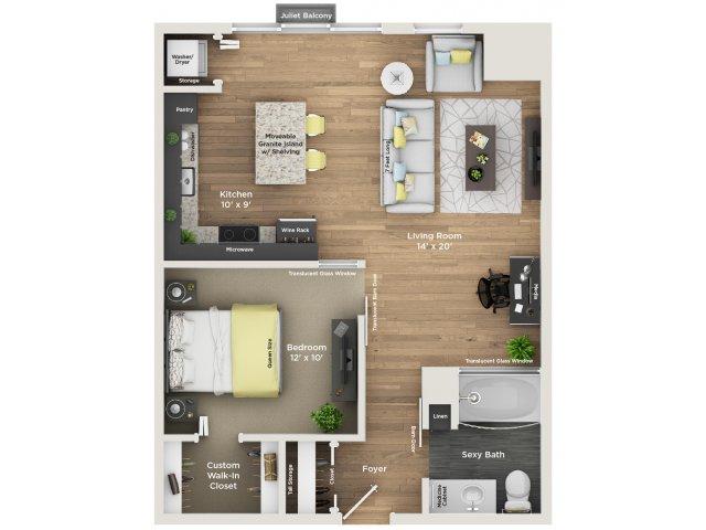 apartment floor plan A5