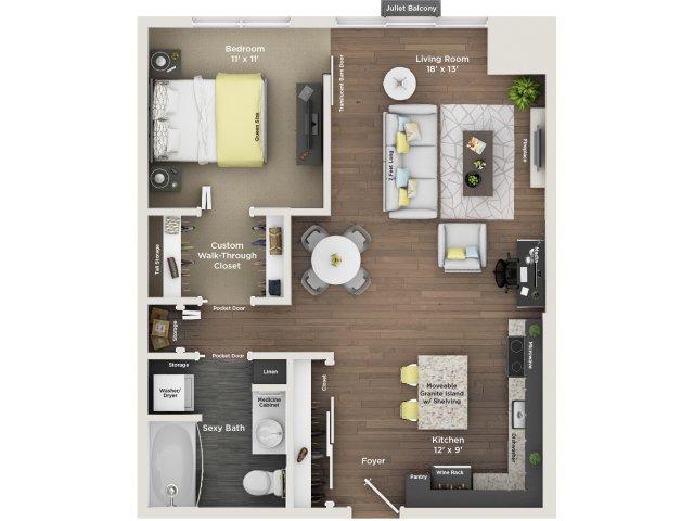 apartment floor plan A11