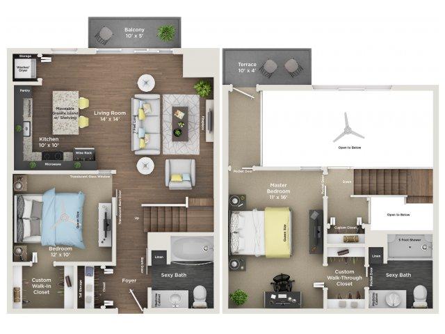 apartment floor plan C4