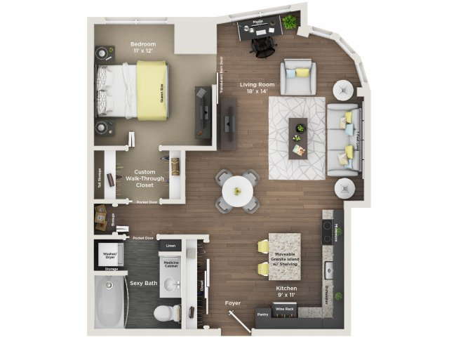 apartment floor plan A13