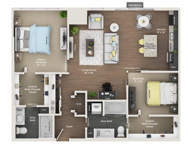 apartment floor plan C9