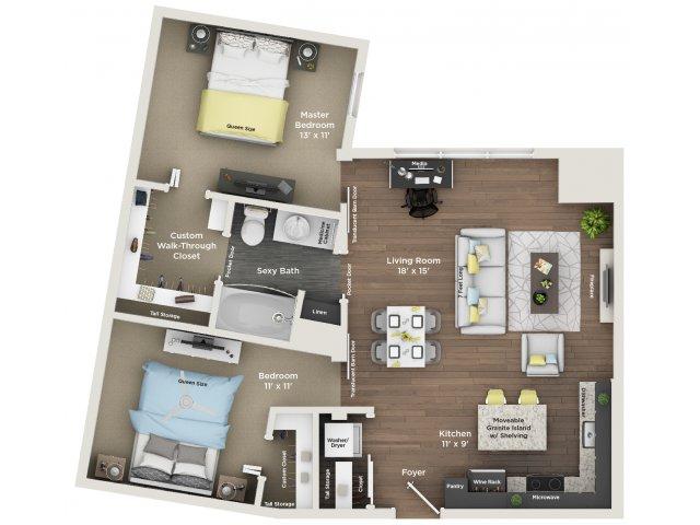 apartment floor plan B3