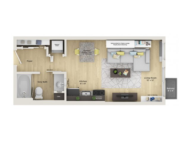 apartment floor plan SN