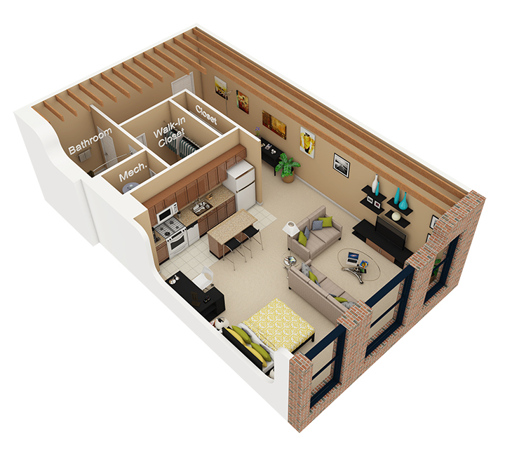250 Ft Studio Apartment Floor Plans studio / 1 bath apartment in chicago il | cobbler square loft