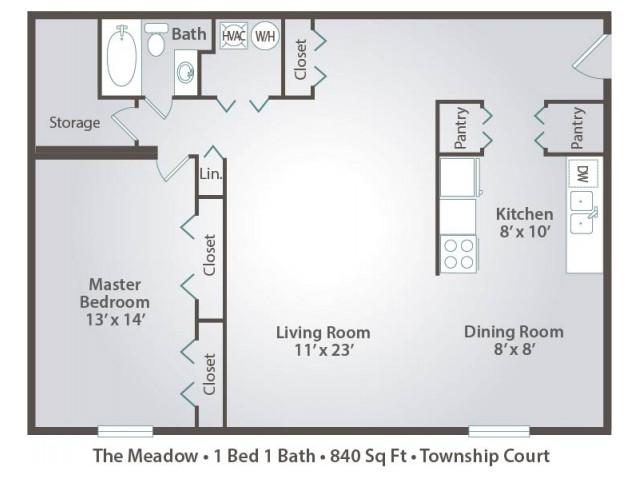 floor plan A one bedroom one bath