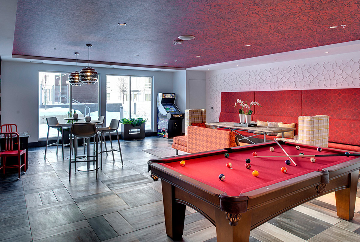 resident clubroom at the Penfield