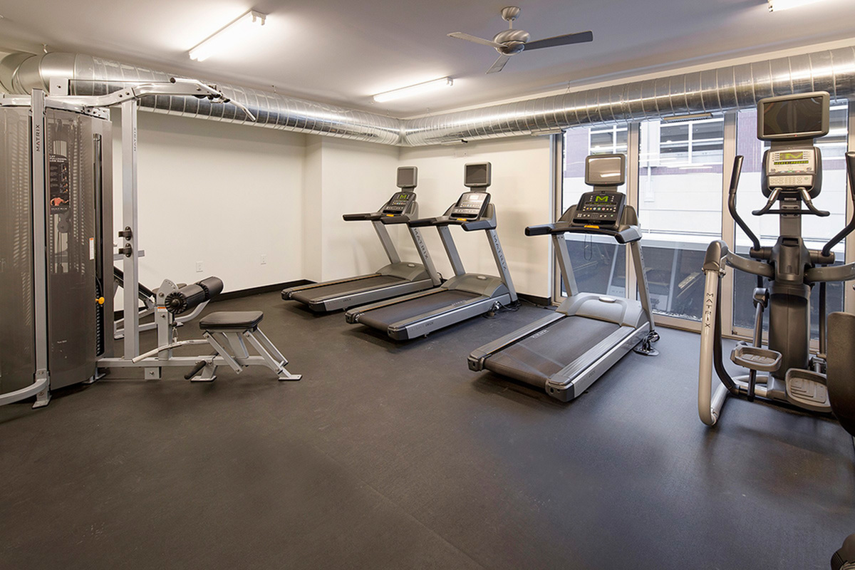 fitness center at the Penfield